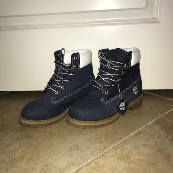 Timberland Shoes - Custom Navy Timberland Boots Sz 7 Women s 1a78c2e5c6